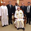 Fr. Andrzej and Fr. Ed with the full postulant class, including Celsus