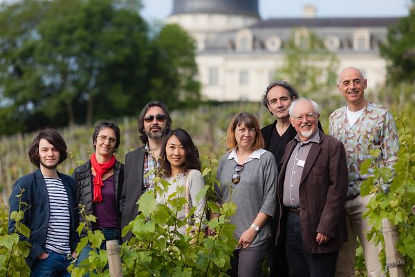 Le Grand Jury et le président du festival Oenovidéo dans les vignes du château de Taleyrand à Valençay en 2014.  Tous droits réservés, LIGHT EX MACHINA
