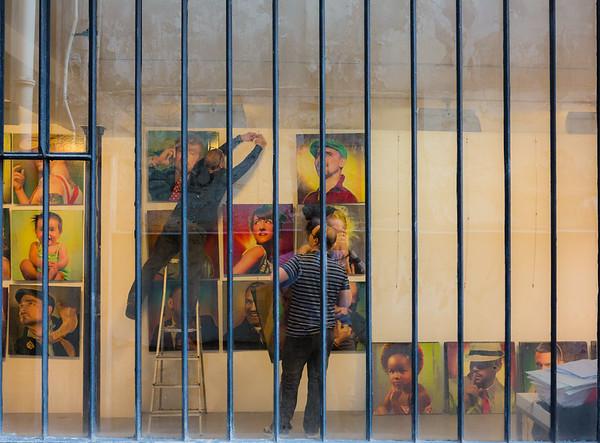 """Exposition """"PROFILE SPLENDA"""" de Vincent Malléa"""", installation.  Tous droits réservés LIGHT EX MACHINA."""