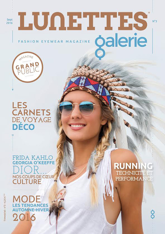 Editorial mode , couverture magazine Lunettes Galerie 3