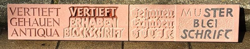 Schriftbeispiel Sandstein