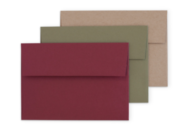 Red, Green, Craft Envelopes
