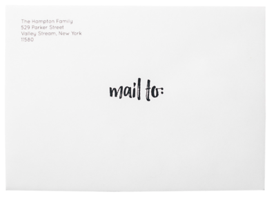 Mail To Stamped on White Envelope