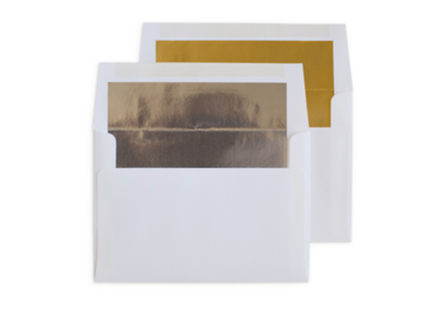 Foil Envelopes: Silver and Gold