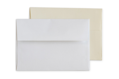Linen Envelopes: White and Cream