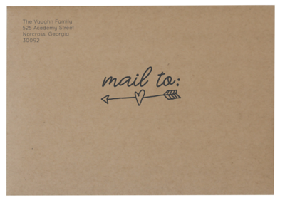 Mail To Arrow on Craft Envelope