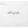 Delivery For Formal on White Envelope