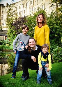 Family at Mill Gardens near Warwick Castle