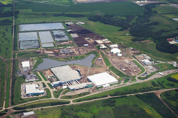 An aerial view of the Edmonton Waste Management Centre
