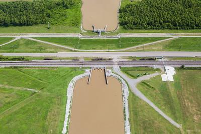 Mississippi River Control structure, Luling, LA