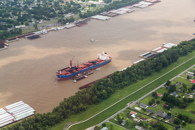 Tanker Loading near DOW Chemical - St. Charles Operations