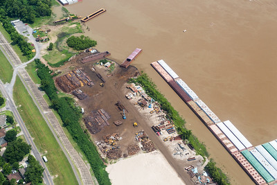 Construction along the Mississippi River