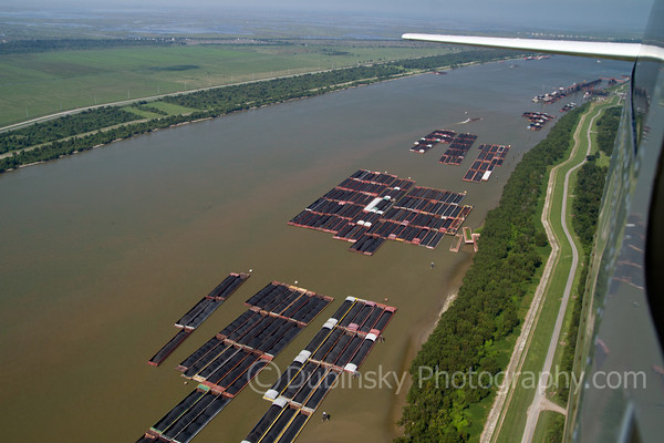 Aerial Images of the Mississippi River and Delta