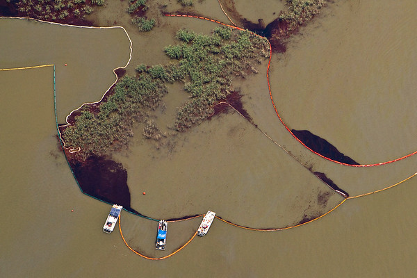 BP Drilling Disaster- Aerial Images South Pass - RedFish Bay - East Bay 5-27-2010