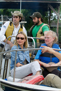 Wilma Subra and Alexandra Cousteau along with Paul Orr and Michael Orr from the Lower Mississippi RIVERKEEPER