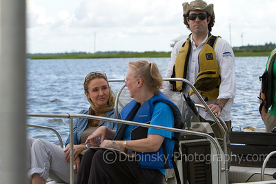 Wilma Subra and Alexandra Cousteau along with Paul Orr, the Lower Mississippi RIVERKEEPER