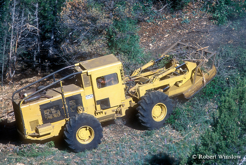 """Large """"Hydro"""" Mower used to Clear Land to Reduce Fire Danger and Improve Wildlife Habitat, BLM Land near Durango, Colorado"""