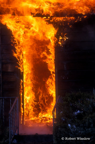 Front door of House on Fire, Colorado