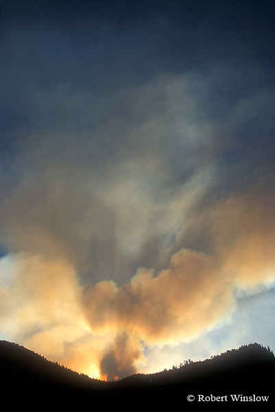 Sunset, Missionary Ridge Fire, 2002, San Juan National Forest near Durango, Colorado