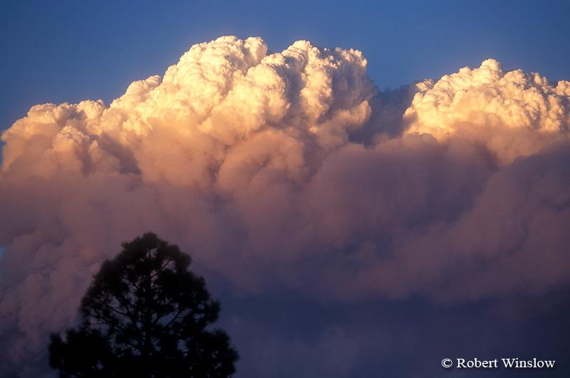 Sunset, Smoke, Missionary Ridge Fire, 2002, San Juan National Forest near Durango, Colorado