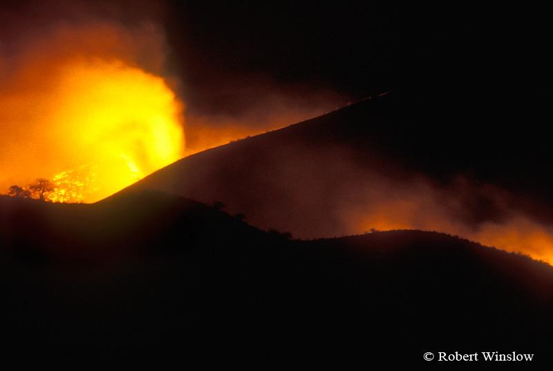 Fire, Tsavo National Park, Kenya, Africa