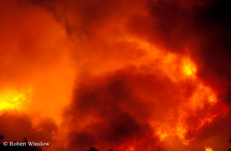 Night, Missionary Ridge Fire, 2002, San Juan National Forest near Durango, Colorado