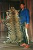 Reginaldo Santos da Silva, 29 holds the skin of a jaguar he killed near his home in the Amazonian state of Amapa.(Douglas Engle/Australfoto)