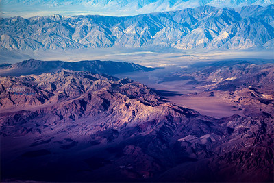 Aerial Photo Mountain Range