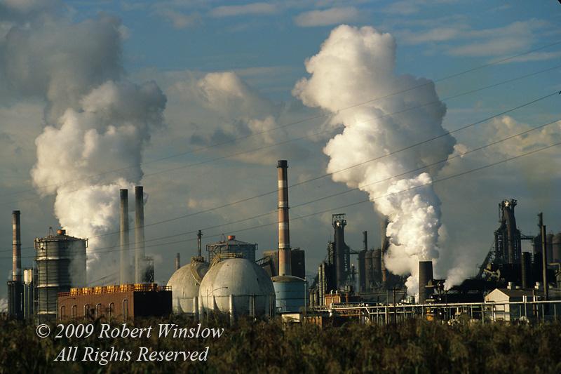 Air Pollution, Geneva Steel, Vineyard, Utah