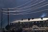 Power Lines Above and Near a Multi Family Residental Building, Durango, Colorado, USA, North America