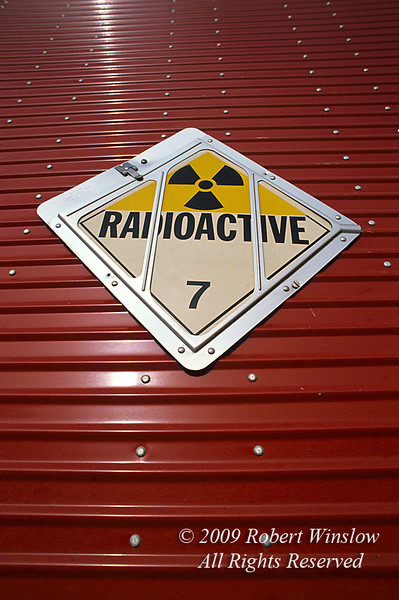 Radioactive Container, Toxic Waste, Hazardous Waste, Radioactive Waste Disposal, US Ecology, Beatty, Nevada, USA, North America