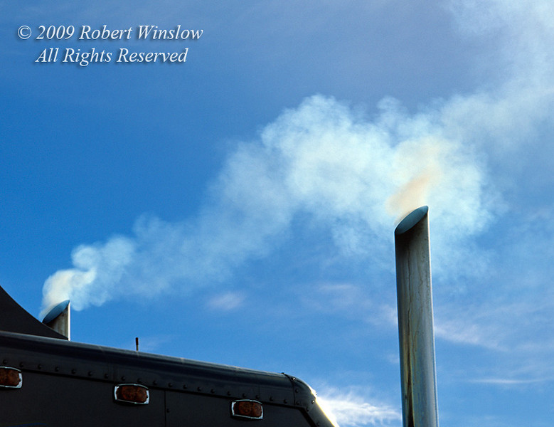 Air Pollution, Exhaust from a Diesel Truck