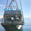 The R/V John Le Conte is operated by UC Davis and used to conduct research on Lake Tahoe throughout the year.