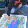 The captain of the UC Davis research vessel John Le Conte indicates where secci depth readings will be taken in Lake Tahoe.