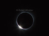 Diamond Ring at beginning, Total Solar Eclipse, Auguat 21, 2017, Driggs, Idaho, USA, North America
