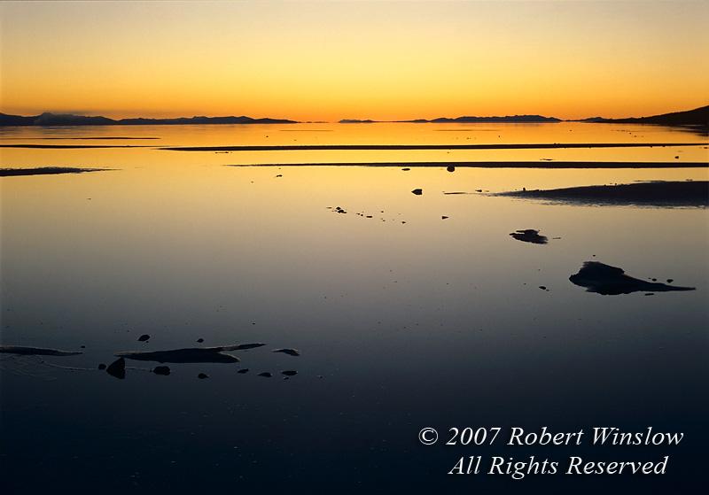 Sunset, Great Salt Lake, Utah, North America