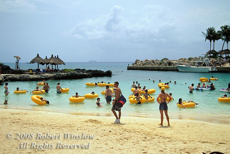 Beach Scene, Xcaret, An Eco Archaeological Park, State of Quintana Roo, Yucatan Peninsula, Mexico