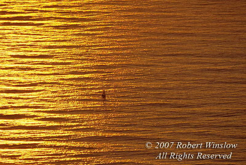 Sailboat at Sunset, South Atlantic Ocean, Taken from Top of Table Mountain, Cape Town, Cape Province, South Africa, Africa