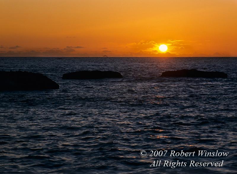 Sunset Over Pacific Ocean, California, USA, North America