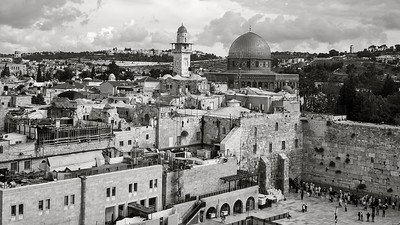 Western Wall (Kotel), Temple Mount, Mosque of Omar, Jerusalem, Israel