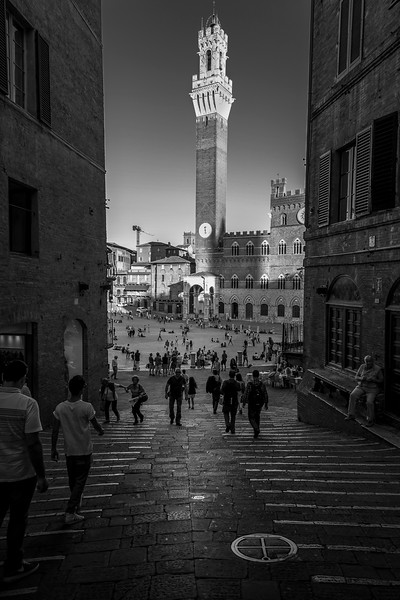 Sienna, Italy: Into the Piazza.