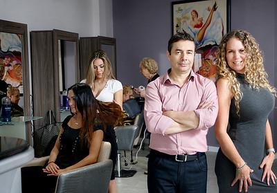011817 -  MANALAPAN -At Right, L to R, Emmanuel Tinebra & Donniel Busey owners of Posh Salon in Manalapan. Photo for Biz Spotlight. Photo by Tim Stepien