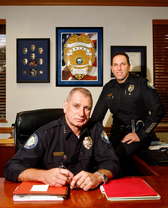 071414 - DELRAY BEACH - DELRAY BEACH, Fla. - Delray Beach Police Chief Anthony Strianese and current Assistant Chief Jeffrey Goldman photographed together Tuesday afternoon at their Delray Beach headquarters. Chief Anthony Strianese is retiring effective August 31 after 25 years of service.  Assistant Chief Jeffrey Goldman has been selected to become the new chief of police, he will take over the position on September 1. Goldman has been the assistant chief since 2011. Photo by Tim StepienCurrent Assistant Chief Jeffrey Goldman will take over the position on September 1.Goldman has been the assistant chief since 2011.