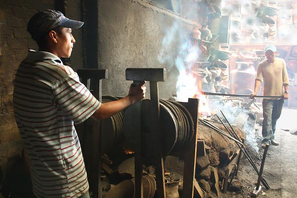 Working in the Santa Clara del Cobre Taller