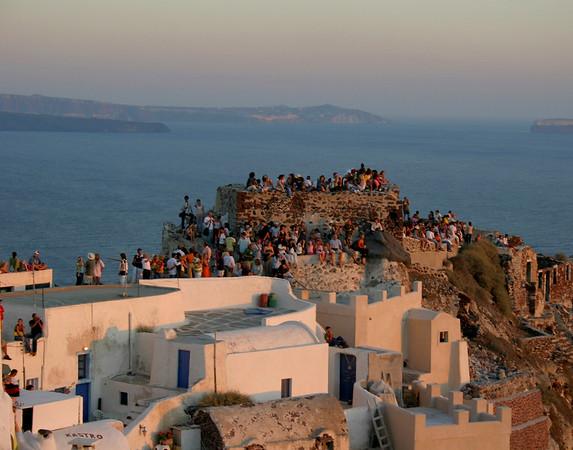 Waiting for Sunset, Eos, Santorini, Greece