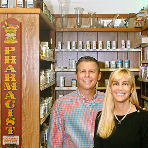 011414 - BRINY BREEZES - Erin and Tom Craig photographed at Gulf Stream Pharmacy.  Photo by Tim Stepien
