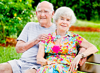 061516 - DELRAY BEACH - Ron London and his wife, Leona photographed Wednesday in the garden of the Abbey Delray. Ron London has had two kidney transplants, is active with the Kidney Association of South Florida and co-founded the Helping Hands organization. Photo by Tim Stepien