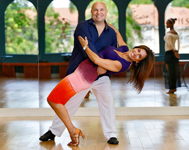 071216 - BOCA RATON - Peter Gary dances with his partner Pam Casanave Tuesday afternoon at Fred Astaire Dance Studio in Boca Raton.  Peter and Pam are competing in the 2016 Boca Ballroom Battle. Peter Gary lives in Royal Palm Yacht & Country Club and is the CEO and founder of Pinnacle Advertising & Marketing in Boca Raton.  Photo by Tim Stepien