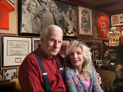 052209 - OCEAN RIDGE - Howard and Beverlee Schnellenberger in their Ocean Ridge home.  Howard and Beverlee celebrated their 50th wedding anniversary on March 3, 2009.  Photo by Tim Stepien