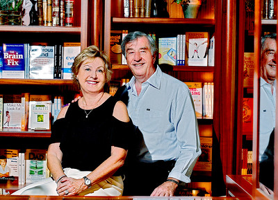 101617 - Peter and Anne Vegso, sponsors of the Women of Grace Luncheon in November. Peter is a pioneer of self-help publishing and president of HCI Books in Deerfield Beach. Photo taken at Health Communications Inc. (HCI) 3201 SW 15th St., Deerfield Beach 33442. Photo by Tim Stepien